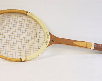 Vintage 1970s Slazenger No.3 Wooden Tennis Racket