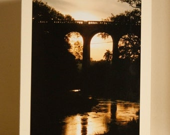 Greetings Card: Evening Viaduct