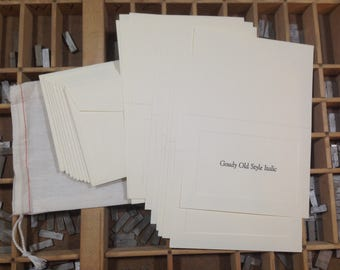 Personalized Notecards with Envelopes (Ivory)