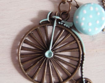 Necklace with bike pendant verdeacqua-necklace with pearl Vedreacqua-necklace with a bicycle pendant-Valentine's Day gift