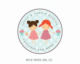 baking logo design bakers logo design cupcake logo design little girl bakers logo premade logo design bespoke logo design bakery logo design