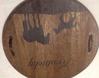 Kentucky Bourbon barrel lid.