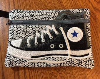 High-Top Converse Shoe Zipper Bag