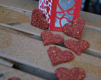 Valentines Day Dog Treat Gift Box - Organic and Vegan Dog Treats - Healthy and Gluten Free Dog Treats - All Natural Dog Treats