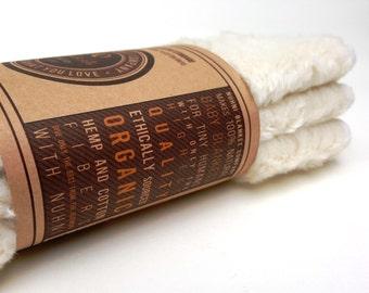 Hemp Wash Cloth - Organic Baby Wipes - Hemp Organic - Cotton Organic - Cloth Diaper Wipes - Eco Baby Washcloth - Hemp Washcloths