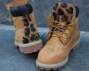 "Custom Timberland Boots Leo Style ""Unikat"""