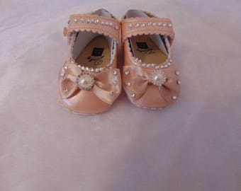 Embellished baby shoes