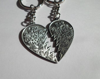 Silver Grateful Dead Friendship KeyChains! NFA Not Fade Away