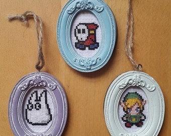Mini Framed Cross Stitch Sprites