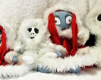 Jack and Sally Christmas Dolls