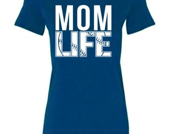 Baseball Mom Life Ladies Tee