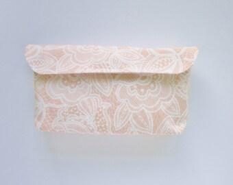Blush Lace Diaper Clutch
