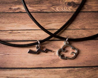 Leather Choker - Black Chokers - Leather Chokers - Charm Necklace - Charms