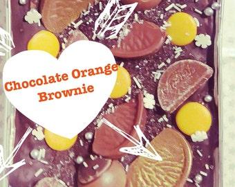 Chocolate Orange Brownie / Chocolate Orange Traybake / Chocolate Orange Cake / Chocolate Brownie / Family Sharer