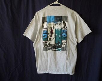 90s No Ocean Too Deep Surfer Diver T-Shirt