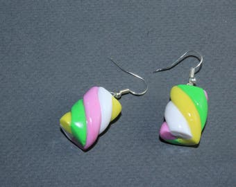 Flump sweet Polymer clay earrings - something sweet, candy