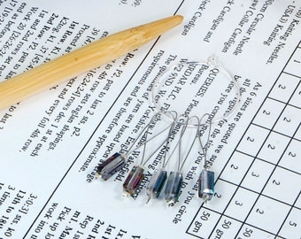 Knitting stitch markers, non snag, pack of five
