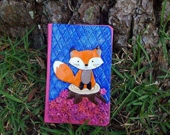 fox journal, cute fox book, mini journal, notebook, lined notebook, lined journal, custom journal, fox diary, fox notebook, gift for kids