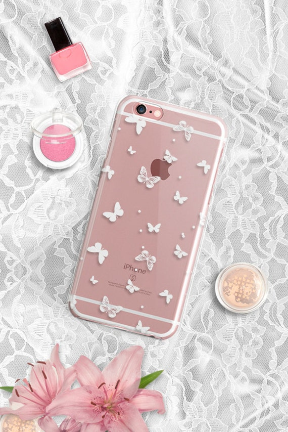 Butterfly iPhone 6s Case Clear iPhone 6S Case Rubber iPhone 6s Plus Case Clear Samsung Galaxy S6 Case Rubber iPhone 6 Case Clear 45