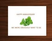 Anniversary Card, Happy Anniversary, 1st Anniversary, 2nd Anniversary, meant to be, Husband Anniversary, Wife Anniversary, Anniversary Gift