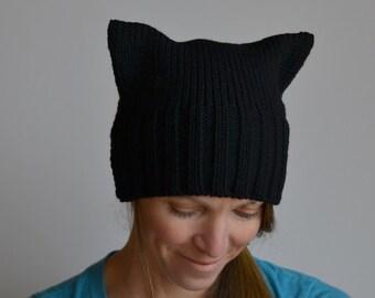 Knit Black Pussyhat