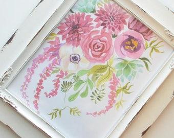 Cranberry Floral Art Print