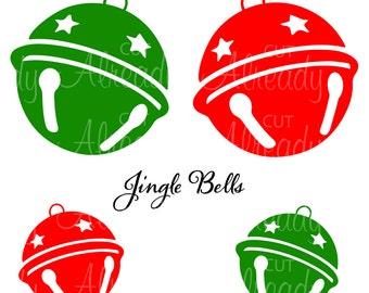 Jingle Bells Decal - Jingle Bells SVG - Christmas SVG - cut file - Instant Digital Download