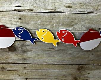 Fishing Garland - banner - gone fishing - the big one - party supplies