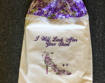 Shoe Bags Handmade and Machine Embroidered