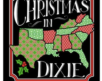 Southern Couture, like Simply Southern,   Christmas in Dixie, Black,  short sleeve or long sleeve tee shirt