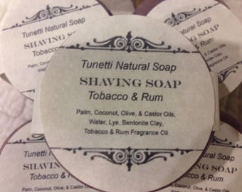 All Natural Shaving Soap - Tobacco & Rum