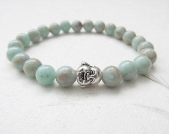 Buddha bracelet, yoga bracelet, imperial jasper bracelet