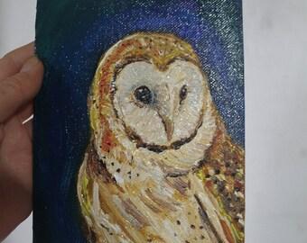 Barn Owl in oils