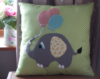 Baby Elephant Nursery Cushion, Elephant Nursery Decor,  Elephant Cushion Baby, Nursery Cushion, Handmade Cushion, Elephant Gifts, Baby Gifts