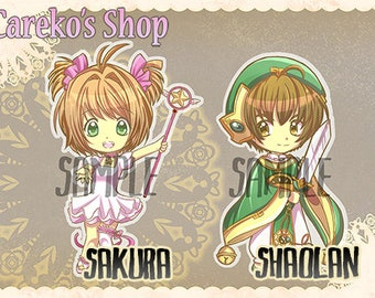 Card Captor inspired Keychains
