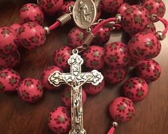 Handmade Rosary 14 mm beads