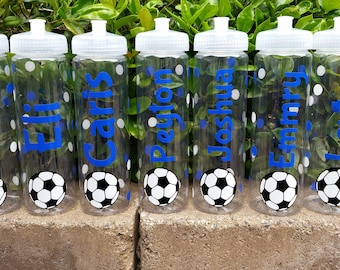 Soccer Team Sports Bottle | Personalized Team Water Bottle | Soccer Sports Bottle | Personalized Soccer Water Bottle | Soccer Water Bottle