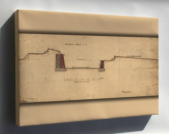 Canvas 24x36; Governors Island Fortifications New York 1766