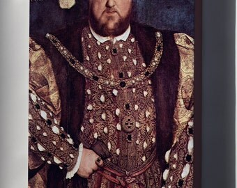 Canvas 24x36; King Henry Viii By Hans Holbein The Younger