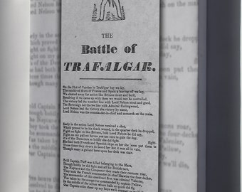 Canvas 24x36; Battle Of Trafalgar Broadside From The 1850S Recounts The Story