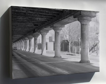 Canvas 24x36; Haer Pa,51 Phila,721 12 25Th Street Elevated View From Below