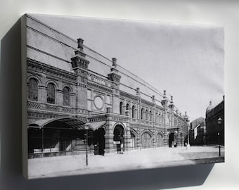 Canvas 24x36; Berlin Friedrichstrasse Railway Train Station 1885