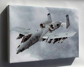Canvas 24x36; A-10 Thunderbolt Ii Warthog