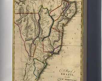Canvas 24x36; Map Of Brazil, Or New Portugal 1814 P1