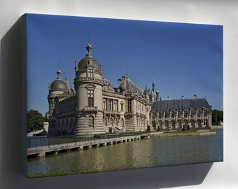Canvas 24x36; Chantilly Castle, Oise Department, France
