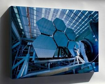 Canvas 24x36; James Webb Space Telescope Mirror Segments