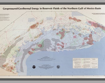 16x24 Poster; Map Of Geothermal Energy N Gulf Of Mexico 1979