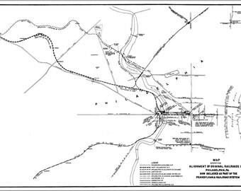 16x24 Poster; 1948 Original Railroads In Philadelphia