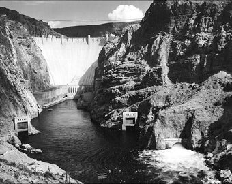 16x24 Poster; Boulder Dam From Across The Colorado River By Ansel Adams C1941