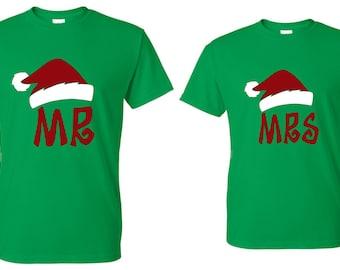 Mr. & Mrs. Santa Hat Shirts